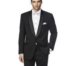 Costume homme Custom Made Men Business Suits Man Groom Wedding Prom Formal Suit Fit Men Suit Three Pieces(Jacket+Pants+Tie )(China)