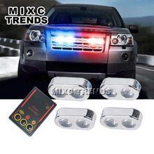 4x2 LED Car Police Strobe Flash Lights Best Waterproof 8W Small size Car Truck Emergency Warning Reverse Lights(China)