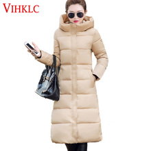 Abrigo Mujer Invierno 2017 New Fashion Korean Women Down Cotton-padded Jacket Thick Warm Hooded Long Parka Slim Winter Coat G632(China)