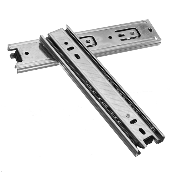 2Pcs 8inch Long 3 Sections Ball Bearing Slide Rail Cabinet Drawer Runners Slider(China)
