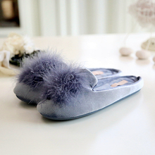 2017 Spring and Summer the Nordic style Women Simple Home Slippers Women's Furry Rubber Sole Anti-slip All Seasons House Slipper(China)