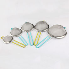 1pc  Stainless steel  Sieve Sifter Frying Cooking Strainer Colander Kitchen Tool
