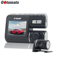 Gotomato Dual Camera DVR Allwinner i1000 Full HD 1080P Dual Lens Dash Cam Video Recorder 2 Camera Night Vision Car DVR Camcorder(China)