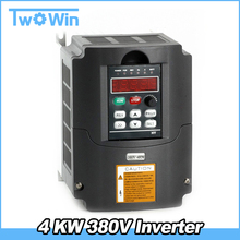 4kw 380v AC 5HP VFD Variable Frequency Drive VFD Inverter 3 Phase Input 3 Phase Output Frequency inverter spindle motor(China)