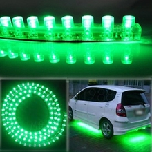 "2pcs 20""  50 cm Thin Flexible Waterproof Green xenon  48 LED chips Strip Daytime Running Light Driving DRL Fog Lamp Style"