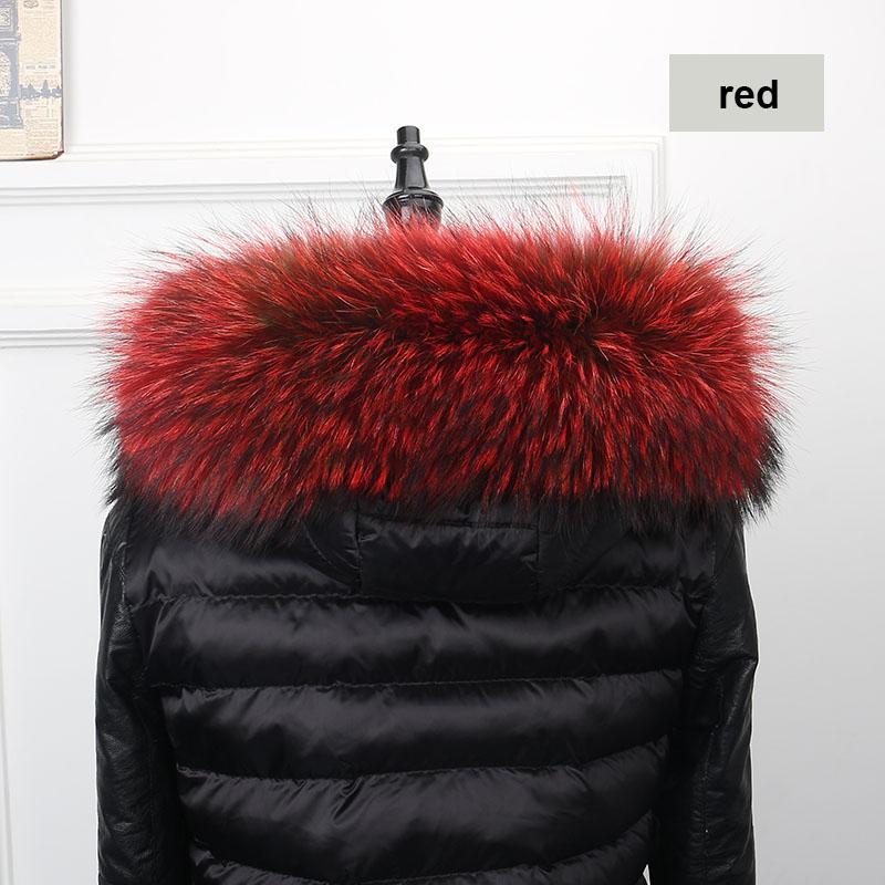 raccoon fur collar red 2