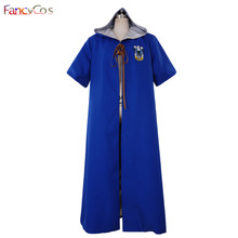 Halloween Potter Quidditch Robes Ravenclaw Robes Blue Cape Harri Cloak Cosplay Costume High Quality Custom Made for Kids Adults