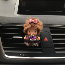 Lovely handmade diamond bow Kiki Air Freshener Automobile styling Air conditioning outlet perfume Parfum De Voiture