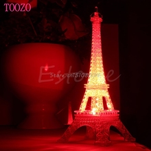 1Pc Lovely Eiffel Tower Night Light Luminaria Cute LED Art Deco Lamp Desk Bedroom Decor Small Luminaria Mesa Lighting #S018Y#