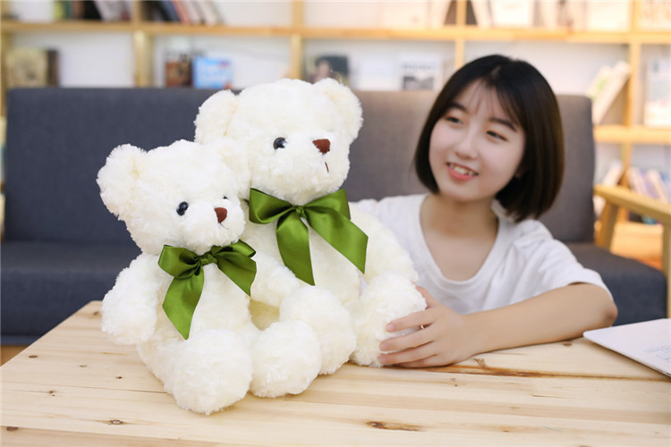 1pc 38cm super lovely exquisite small bear plush toy teddy bear,Wedding  Gifts baby kidz sleeping placate toy free shipping - us73