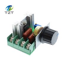 AC 220V 2000W SCR Voltage Regulator Dimming Dimmers Speed Controller Thermostat(China)