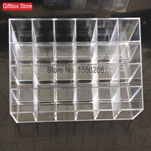 24 Grids Plastic lipstick Organizer Lip Gloss Frame Make-up Show Eyebrow Pencil Lipstick Display Shelf