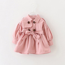 Girls Trench Coat Spring 2017 Children Clothing Kids Blazer Jackets Baby Girls Clothes Fashion Infant Toddler jacket Outwear(China)