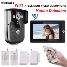 Home high - definition intelligent WIFI network wireless video door phone/ doorbell with anti - theft alarm and motion detection