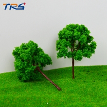 50PCS 9CM architectural model making building material outdoor,Architectural model tree,Scale Train Layout Set Model Trees(China)