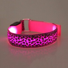 1Pc Safety Reflective Belt Arm Strap  Leopard Night Cycling Running LED Armband Light