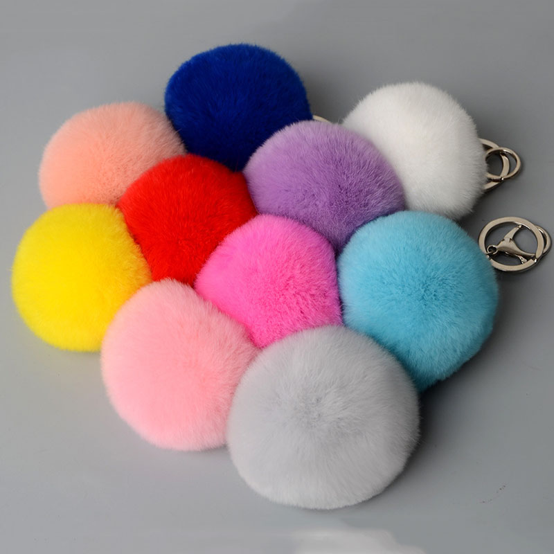 rex rabbit pompom keychbains (1)
