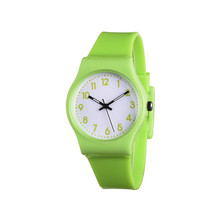 2016 New Fashion Brand Simple Girlfriend  Casual Quartz Watch Small Fresh Soft Silicone band Leisure Watches Relogio Feminino