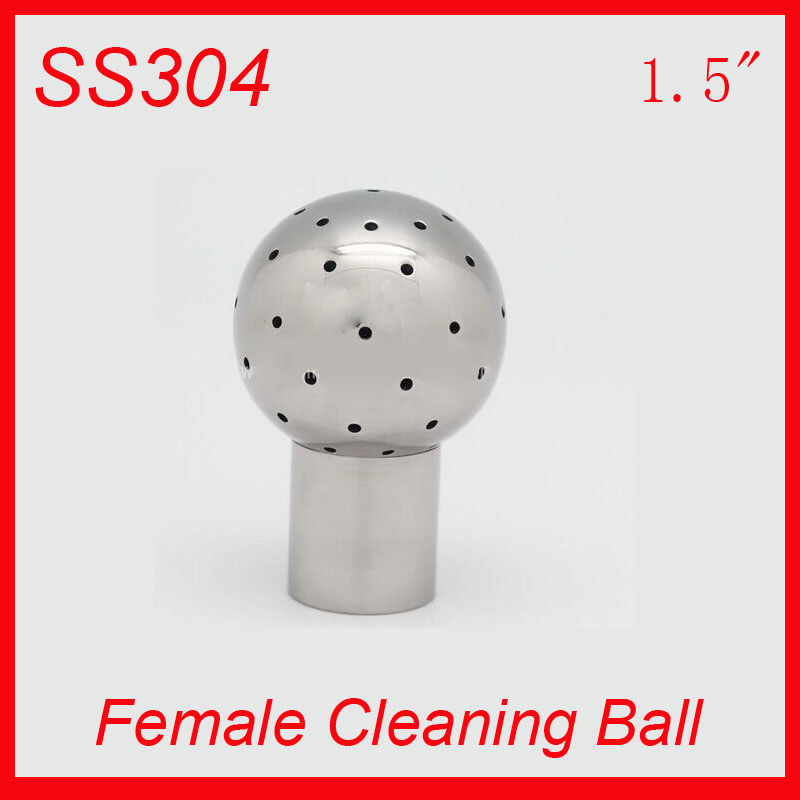 HOT 1.5 SS304 Stainless Steel 360 degree Spray Cleaning Ball  Female Thread Tank cleaning ball Tank clean head<br><br>Aliexpress