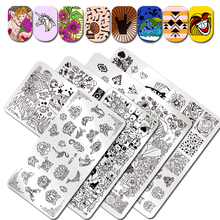 BORN PRETTY Stamping Template Rectangle Unicorn Flamingo Rock Fest Musical Instrument Nail Art Image Plate