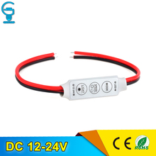 Mini RGB Controller Dimmer 12V 6A 3 Keys for 5050 3528 RGB Led Strip Light Controller RGB 19 Dynamic Modes and 20 Static Color(China)