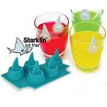 New Creative Silicone Blue Shark Ice Cube Mold Tray Mould DIY Bar Party Cocktail Ice Cooking Tools