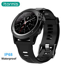 itormis bluetooth android Smart Watch SIM card smartwatch IP68 Waterproof 3G MTK6572 4GB+512MB Camera GPS Wifi Heart Rate H1(China)