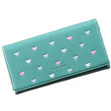 2017 new popular Women Love Heart Pattern Coin Purse Long Wallet Card Holders Handbag clutch gift wholesale carteira feminine(China)