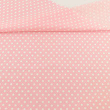 New White Dots Printed Pink Cotton Fabric Pre-cut Fat Quarter Patchwork Tissue Crafts Dolls Fabrics Sewing for Doll's DIY(Китай)