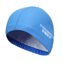 2017 New Elastic Waterproof PU Fabric Protect Ears Long Hair Sports Swim Pool Hat Swimming Cap Free size for Men & Women Adults