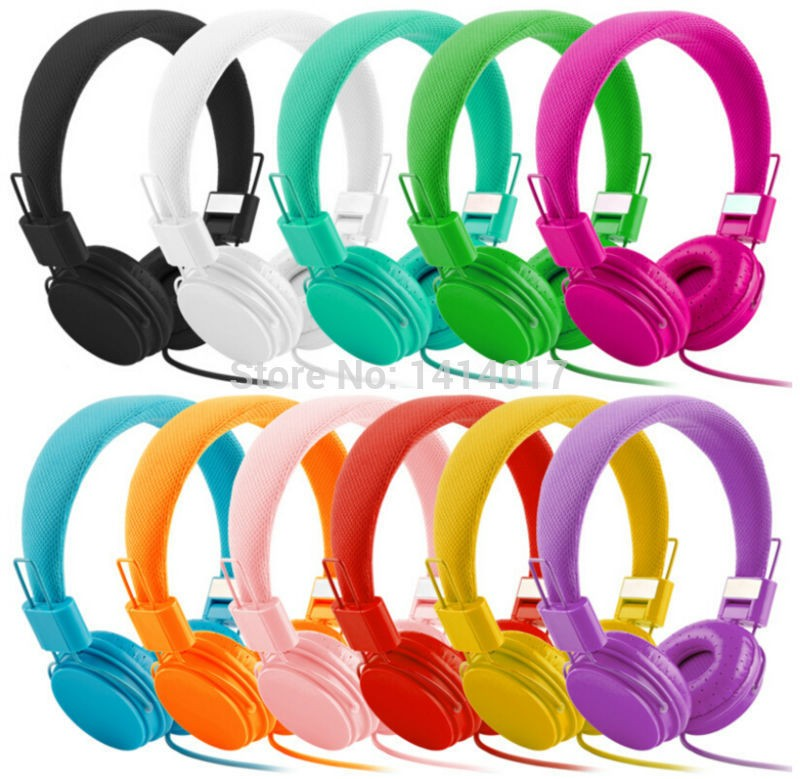 Colorful Headphone DJ Headset Cartoon Stereo Earphones For iPhone Samsung Xiaomi PC MP3 With MicCable Control Girly Kids Style<br><br>Aliexpress