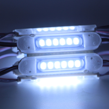 12V 6LEDs LED Module light 5730 SMD lens store front window sign Lamp Waterproof Strip Light led backlight cool white 20pcs(China)