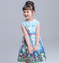 Baby Kids Dresses Bunny Child Clothes Summer Kids Tutu Dresses Cotton Girl Tank Dresses Sleeveless Baby Clothing Frocks