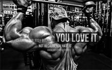 Sports Change your body because you love it Bodybuilding 4 Sizes Home Decoration Canvas Poster Print(China)