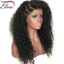 Elva Hair Full Lace Human Hair Wigs For Black Women Pre Plucked Natural Hairline With Baby Hair Curly Remy Hair Wigs 14-24inches(China)