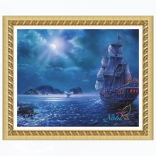 boat Round diamond mosaic painting diamond embroidery cross stitch - 3d diy beaded picture beadwork kits 2812R(China)