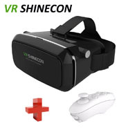 Google goggles Cardboard VR shinecon Pro smartphone realidade Virtual Reality gafas 3d Glasses helmet + Remote Control - Comfortable Lifestyle Electronics Co.,LTD store