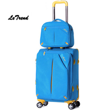 Buy Letrend Oxford Spinner Rolling Luggage Set 20 inch Travel Bag Carry luggage Women password Trunk Men Suitcases Wheel Trolley for $103.60 in AliExpress store