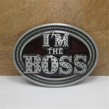 Hot sale belt buckle metal I'M THE BOSS Belt head