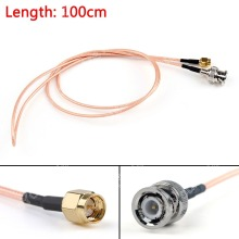 Sale 100cm Cable BNC Male Plug To SMA Male Straight Crimp RG316 3ft Jumper Pigtail FPV High Quality Mini Jackplug Wire Connector