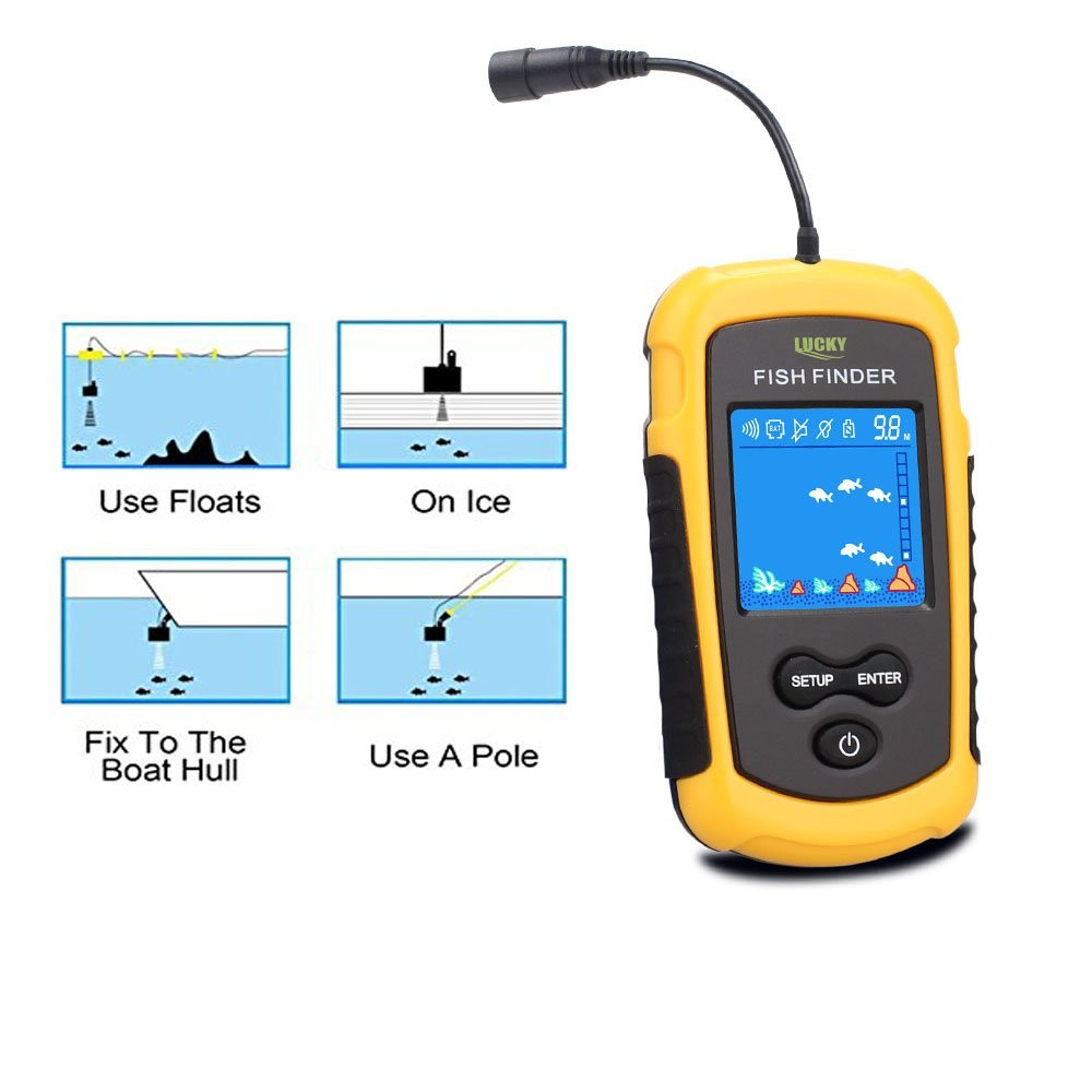 Upgraded Fishfinder wireless Sonar fish finder Fish Alarm Portable Sonar sensor Fishing lure Echo Sounder findfish (6)