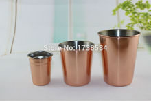 stainless steel  beer tumbler,Copper  planted mugs,Shot Glasses tumbler planting pint cup candle Vodka Mini Glasses with logo