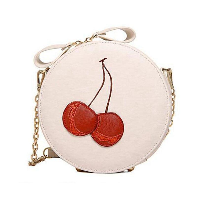 Round Women Bag Cherry Crossbody Shoulder Bags For Womens Ladies Cute Circular Women Messenger Bags sac a main bosla bag  PP-387<br><br>Aliexpress