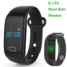 Brand New K18S OLED Smart Band Heart Rate Monitor Wristband Bracelet Bluetooth 4.0 Sleep Monitor Sport Track For IOS Android