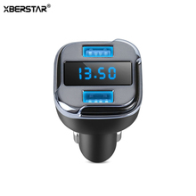 Car GPS Tracker Dual USB Car Charger for Samsung/Iphone/Huawei/Lg mobile phone Ipad Voltage Detector Real Time Tracking Device(China)