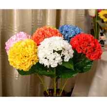 FUNIQUE Romantic High Sticks Silk Flower Handmade Bouquets Party Artificial Flowers For Wedding Living Room Placed Decoration(China)