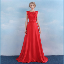 New A Line Vestido De Festa Longo Mother Of The Bride Lace Evening Gown Women Sexy Elegant Long Evening Dresses 2016 Plus Size