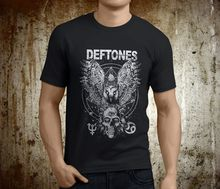 Custom Tee Shirts Online Short Sleeve Zomer O-Neck Mens New Popular Deftones Adrenaline Cat Rock Band Black Size S-2Xl T Shirts