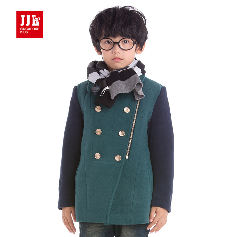 boys wool coat kids winter parka warm lining childrens winter jackets vintage double breasted kids coats boys clothing fashion <br>