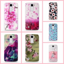 "Case Soft TPU Luxury 3D Relief Printing Cover Case For LG K8 Lte K350 K350E K350N 5.0"" K 8 Phone Back Silicon Cover Bag Cases"